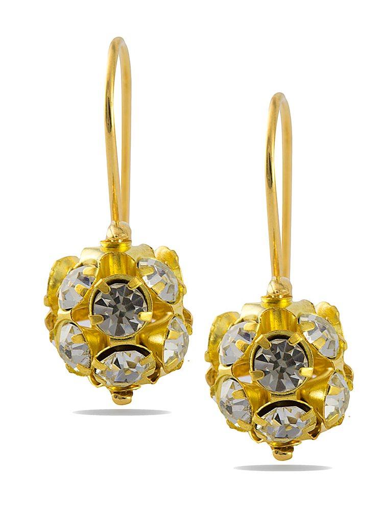 Σκουλαρίκια ασήμενια 925 με πέτρες Swarovski- Επίχρυσα