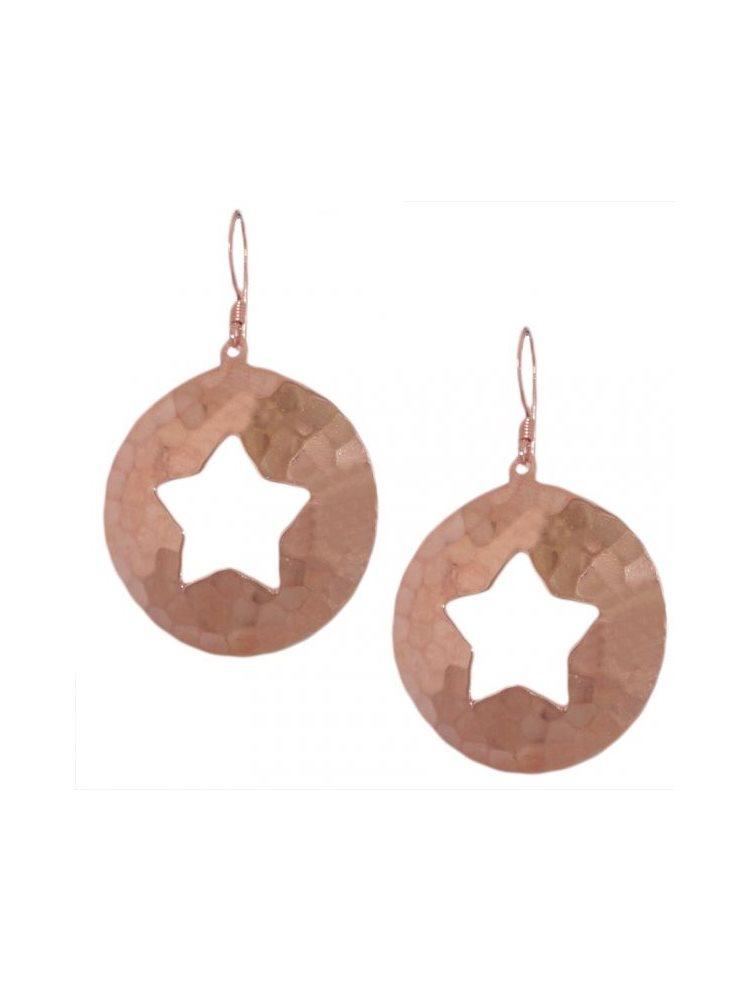 Σκουλαρίκια Ρόζ-Χρυσό Αστέρια