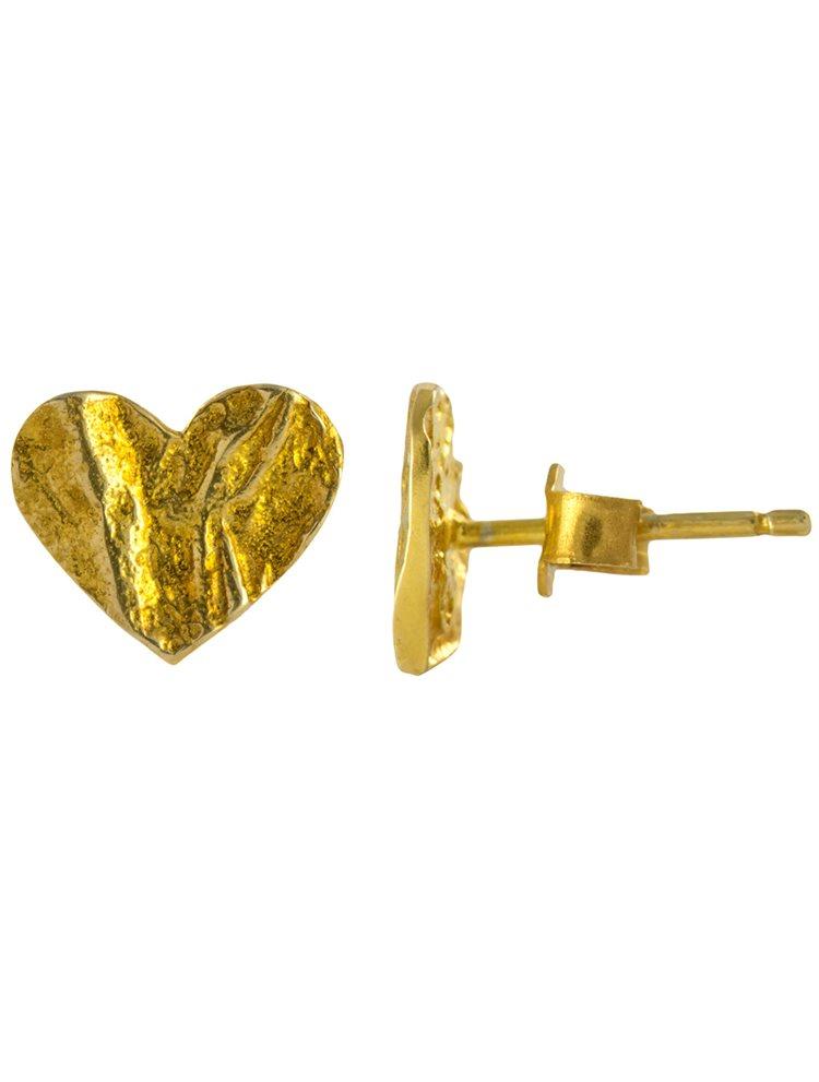 Χειροποίητα σκουλαρίκια ασημένια 925 επίχρυσα- Καρδιές