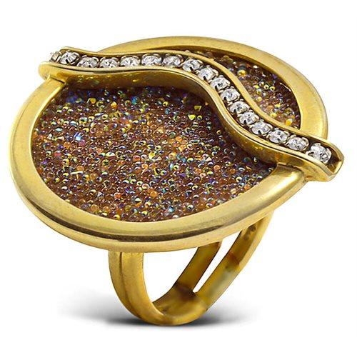 Δαχτυλίδι ασημένιο 925 επιχρυσωμένο με πέτρες Swarovski