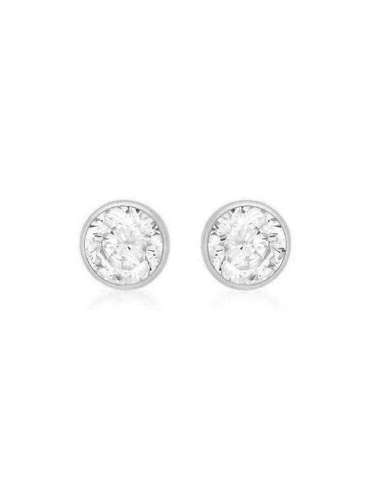 Σκουλαρίκια από ασήμι με πέτρες ζιργκόν