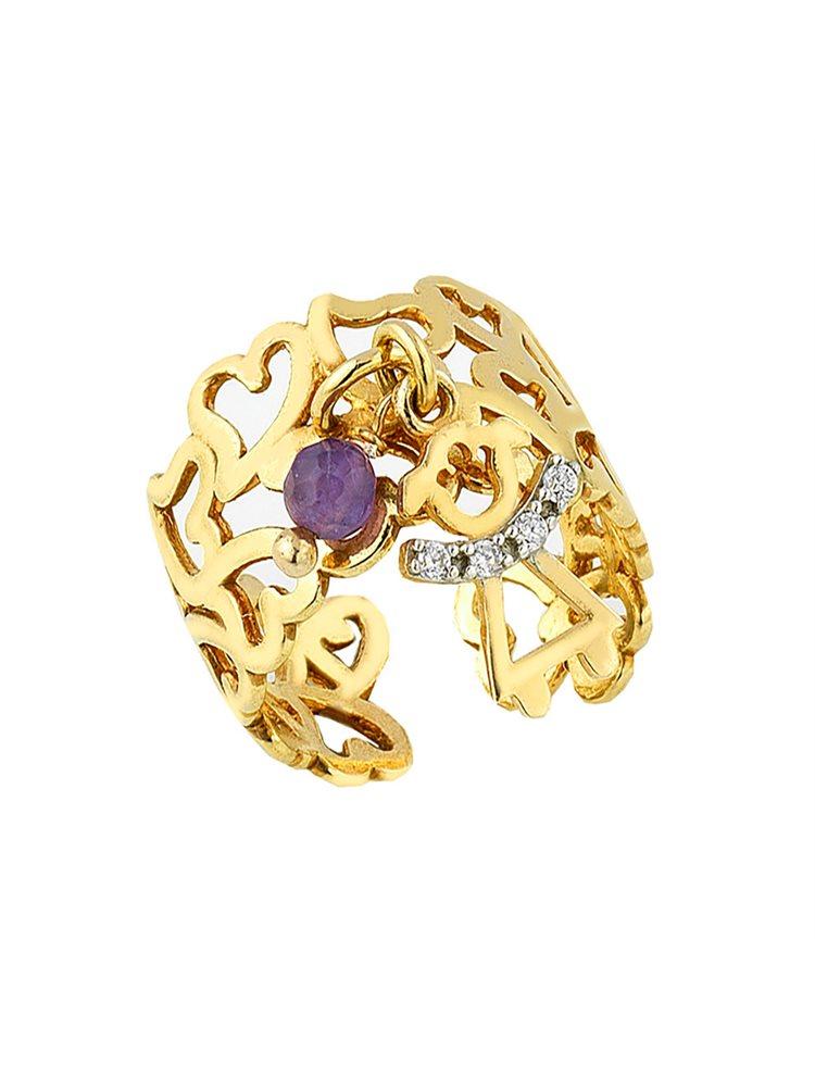 Χειροποίητο δαχτυλίδι από επιχρυσωμένο ασήμι με πέτρα τυρκουάζ