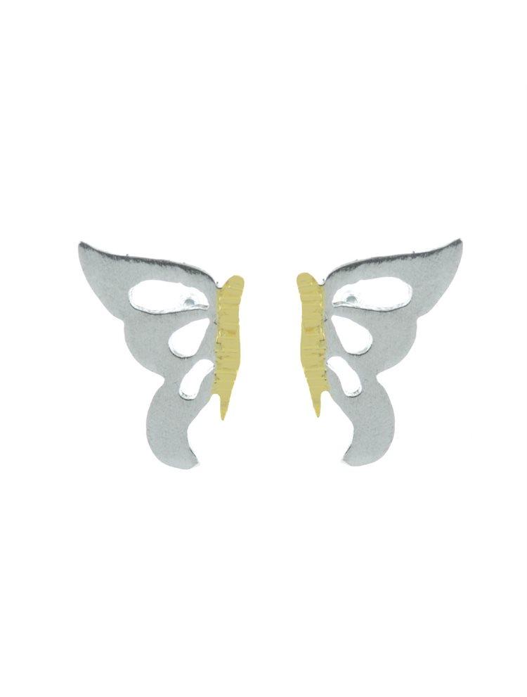 Χειροποίητα σκουλαρίκια από ασήμι πεταλούδες
