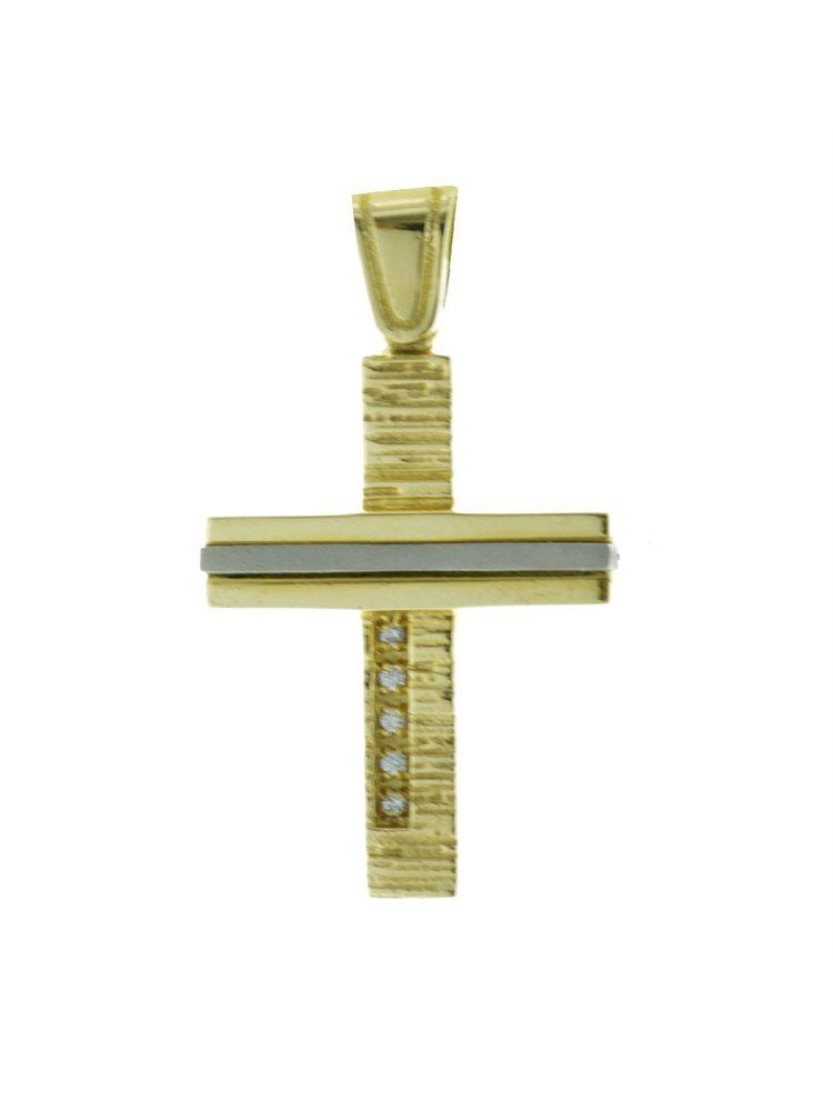 Σταυρός βάπτισης για κορίτσι από χρυσό K14