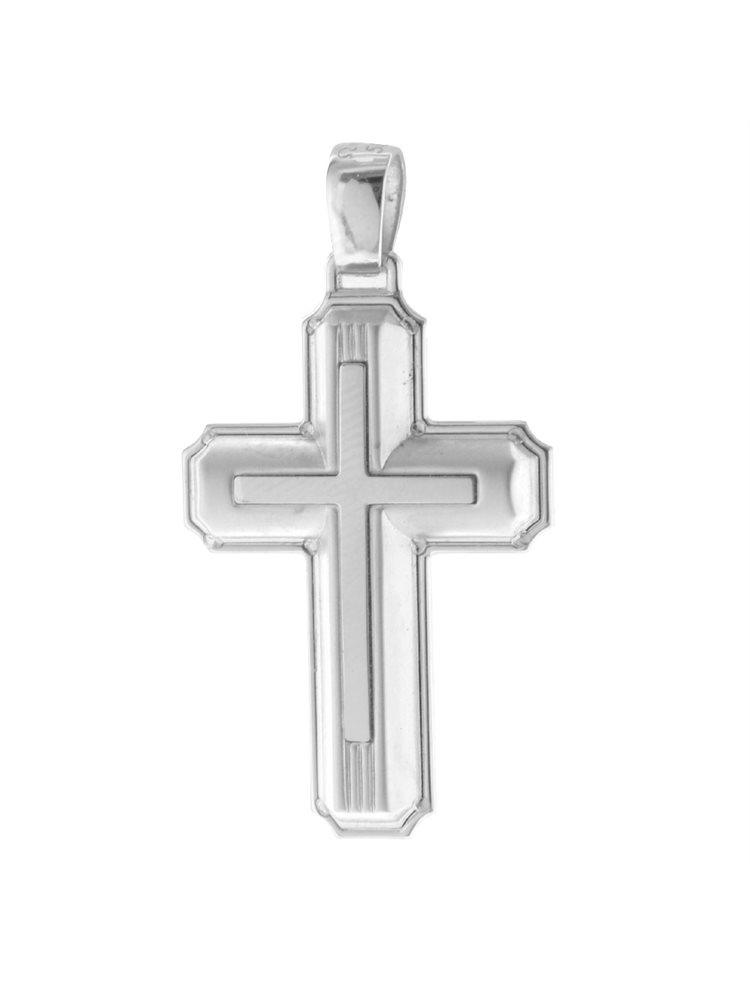 Σταυρός βάπτισης για αγόρι από λευκόχρυσο Κ14