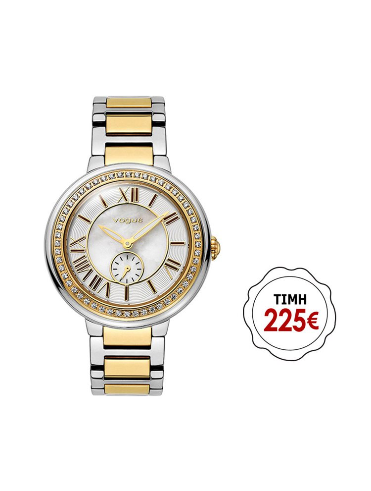 Vogue Red Carpet Mini Crystal Two Tone Stainless Steel Bracelet 77018.2
