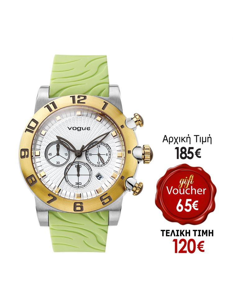 Vogue Allure Chrono Green Rubber Strap 17002.5A