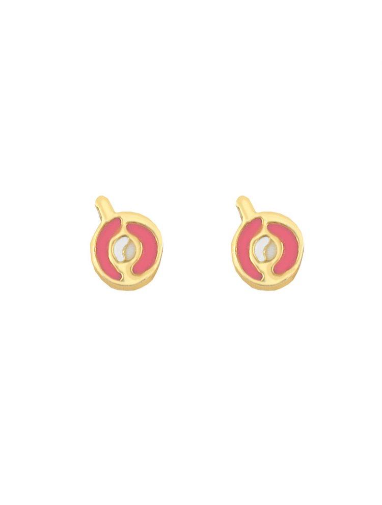 Παιδικά σκουλαρίκια από επιχρυσωμένο ασήμι και σμάλτο