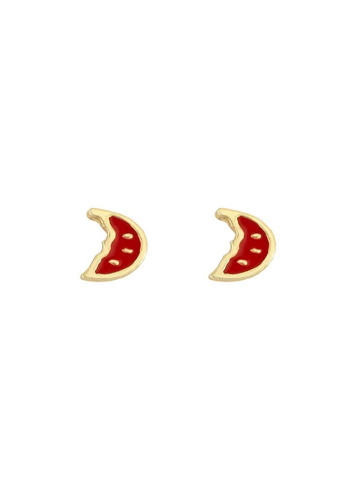 Παιδικά σκουλαρίκια καρπουζάκια από επιχρυσωμένο ασήμι και σμάλτο 9838f94ee92