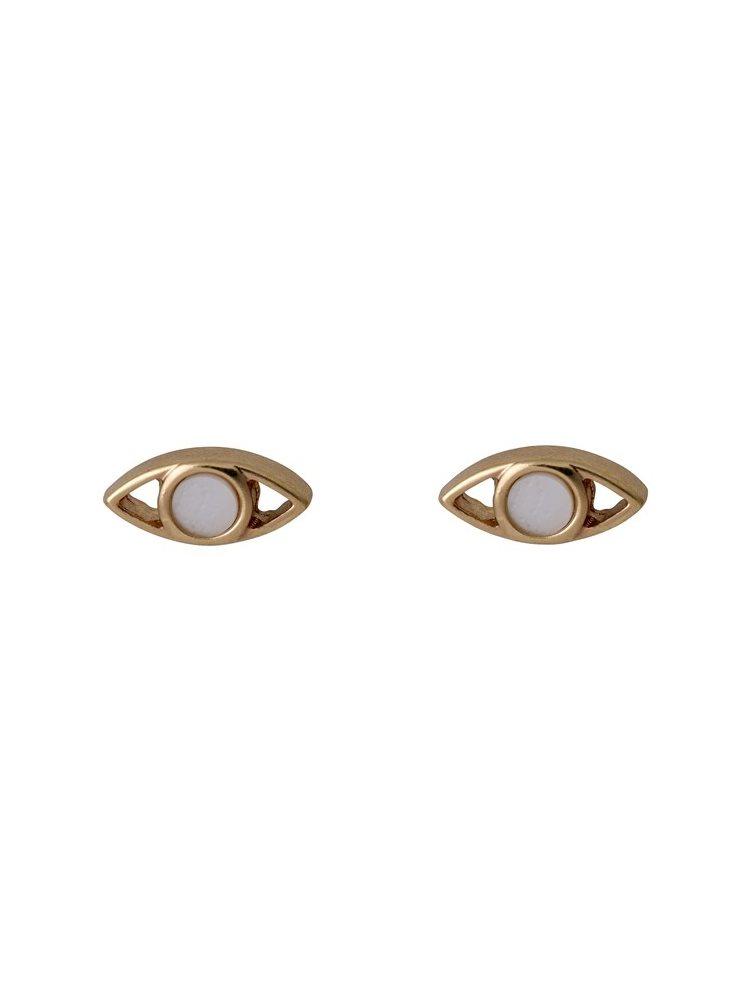 Διακριτικά σκουλαρίκια PILGRIM από ορείχαλκο 131712013