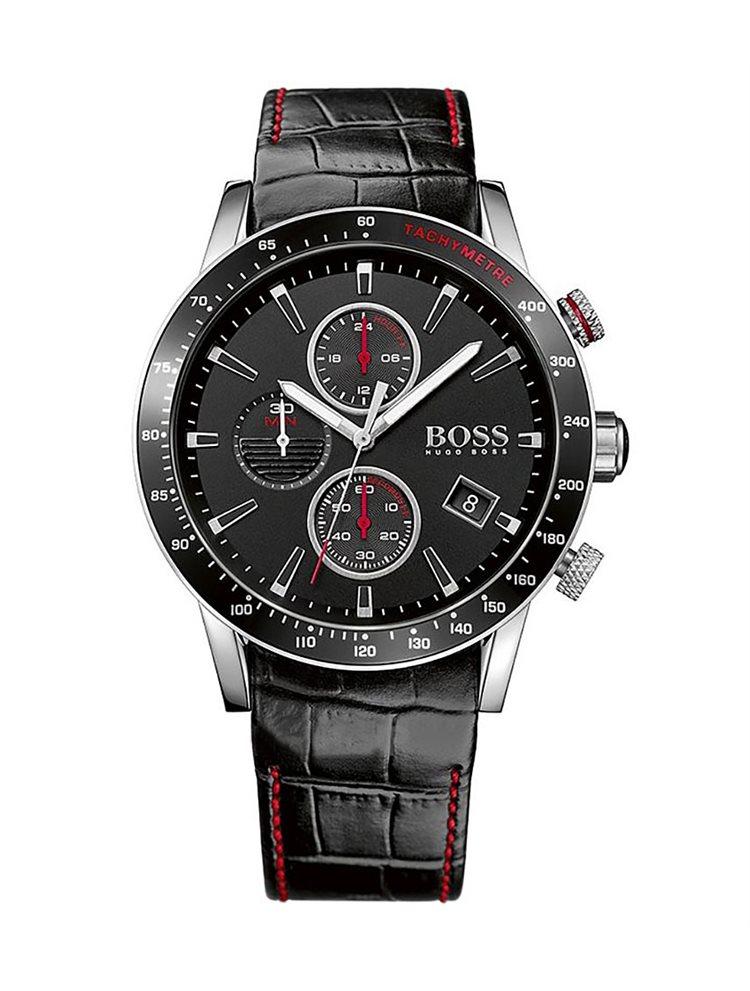 Hugo Boss Black Contemporary Sport Chronograph Black Leather Strap 1513390