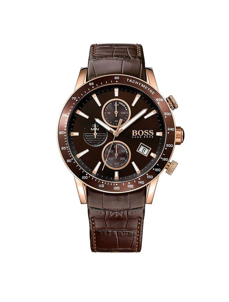 Hugo Boss Rafale Chronograph Brown Leather Strap 1513392