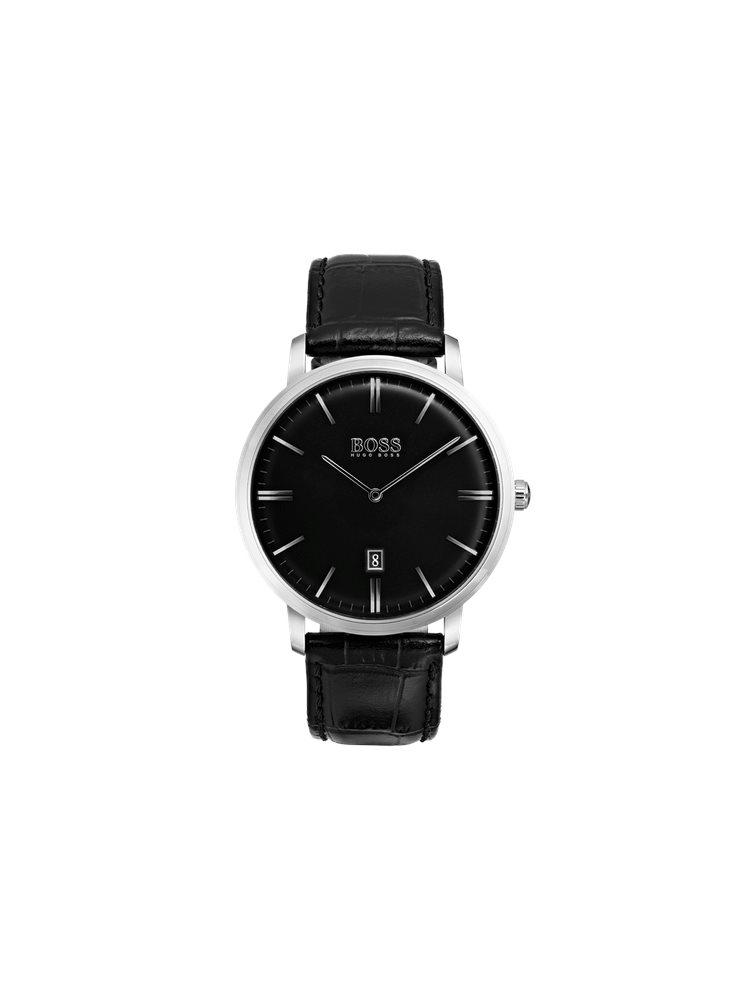 Hugo Boss Black Classic Tradition Black Leather Strap 1513460