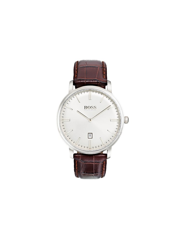 Hugo Boss Black Classic Tradition Brown Leather Strap 1513462