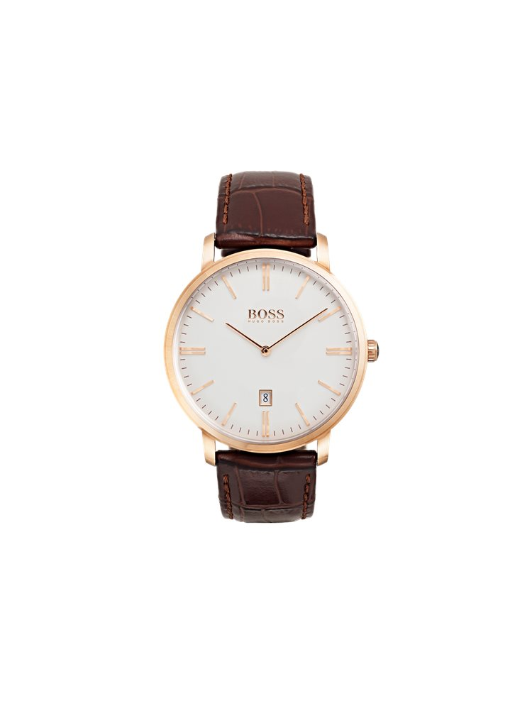 Hugo Boss Black Classic Tradition Brown Leather Strap 1513463