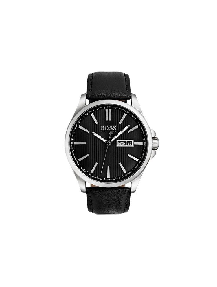 Hugo Boss Black Classic Black Leather Strap 1513464