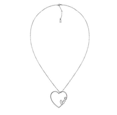 ΤΟΜΜΥ HILFIGER Γυναικείο μακρύ κολιέ από ανοξείδωτο ατσάλι με μεγάλη καρδιά 2700907