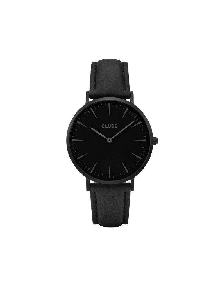 Cluse La Boheme Unisex Black Black Leather Strap CL18501