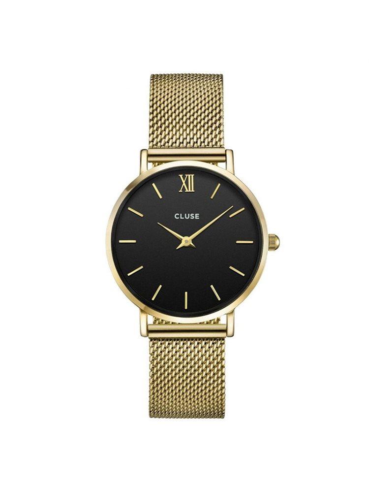 Cluse Minuit Mesh Gold/Black CL30012