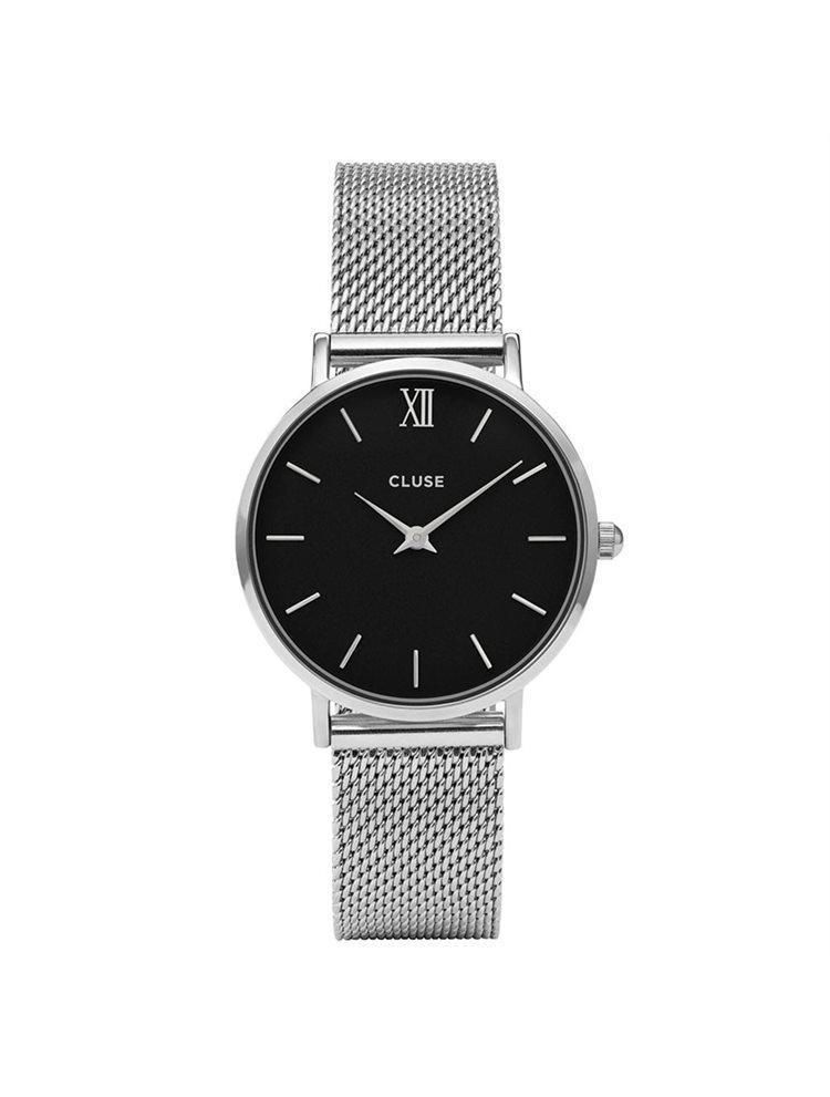 Cluse Minuit Mesh Silver/Black CL30015