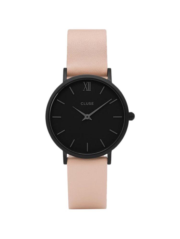 CLUSE Minuit Black Nude Leather Strap CL30027