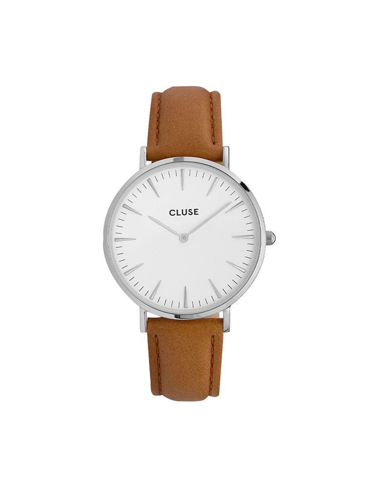 CLUSE LABOHEME Brown Leather Strap CL18211