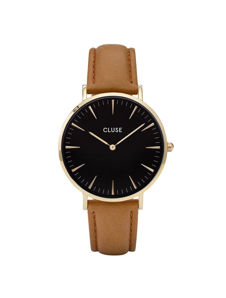 Cluse La Boheme Unisex Gold/Caramel Leather Strap CL18404