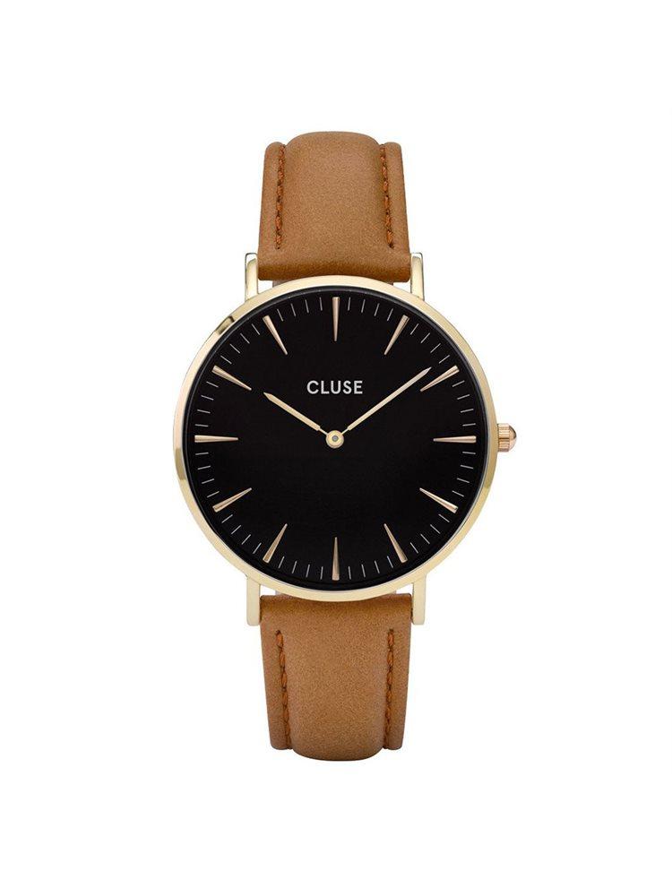 Cluse La Boheme Unisex Gold/Caramel Leather Strap CL18404
