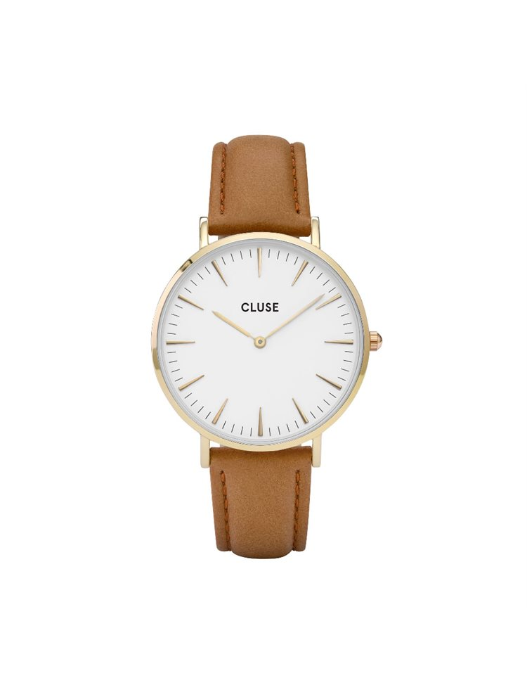 Cluse La Boheme Unisex Gold/Caramel Leather Strap CL18409