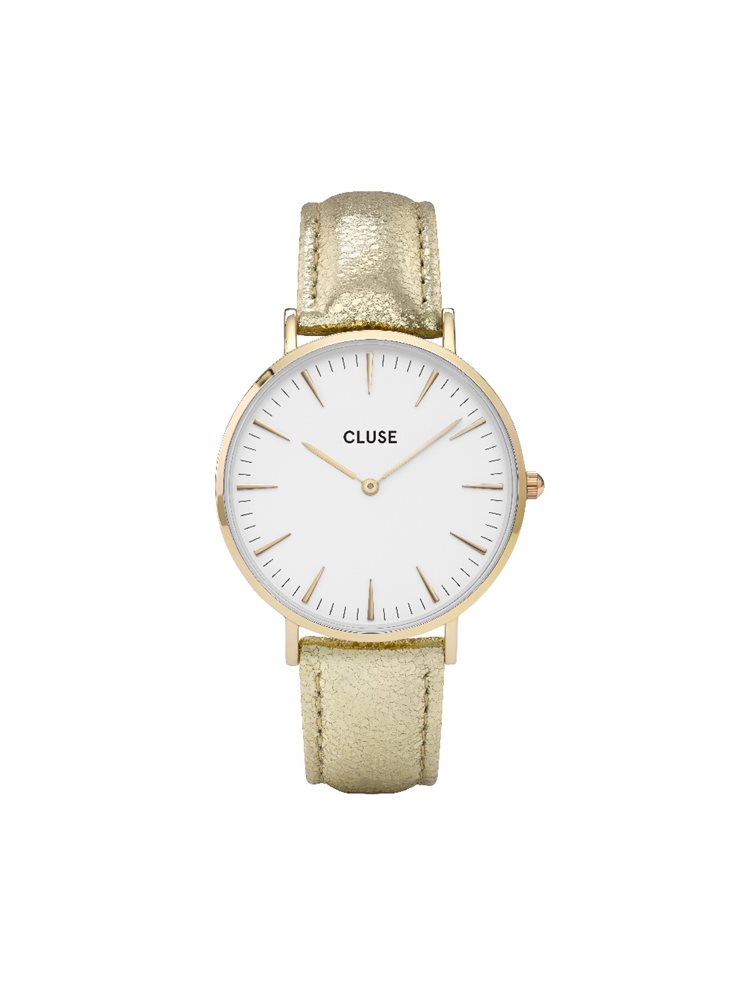 Cluse La Boheme Ladies Gold/Gold Leather Strap CL18421