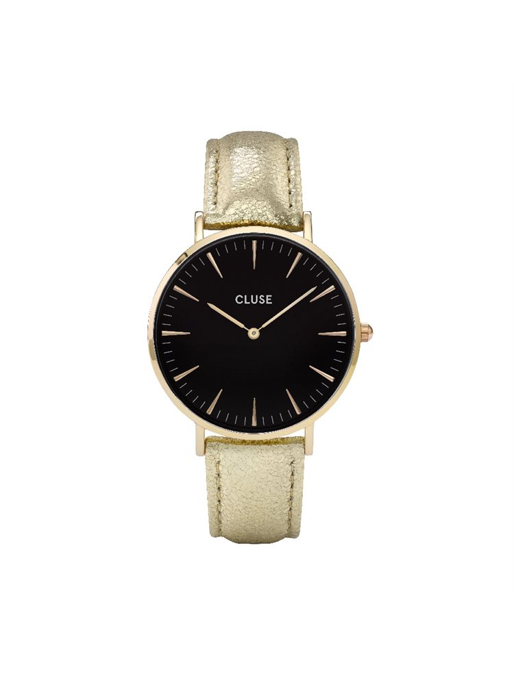 Cluse La Boheme Ladies Gold/Gold Leather Strap CL18422