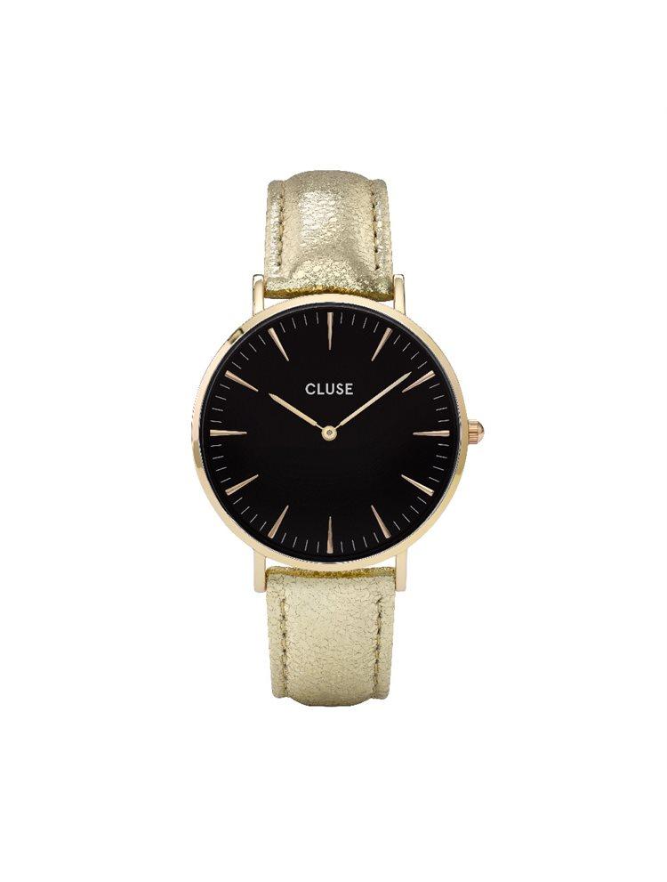 Cluse La Boheme Ladies Gold/Gold Leather Strap CL18422