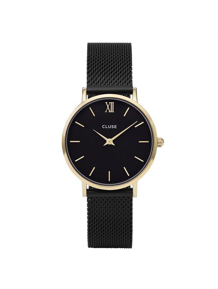 Cluse Minuit Ladies Gold/Black Metalic Bracelet CL30026