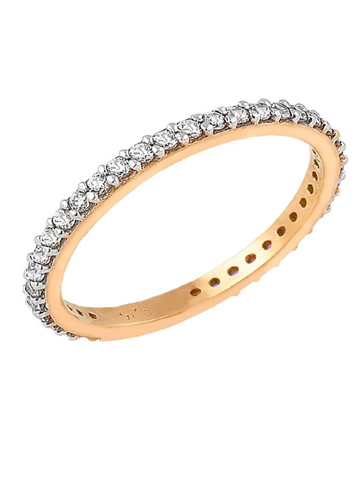 Βεράκι δαχτυλίδι από ρόζ επιχρυσωμένο ασήμι με πέτρες ζιργκόν 1171e2e80d0