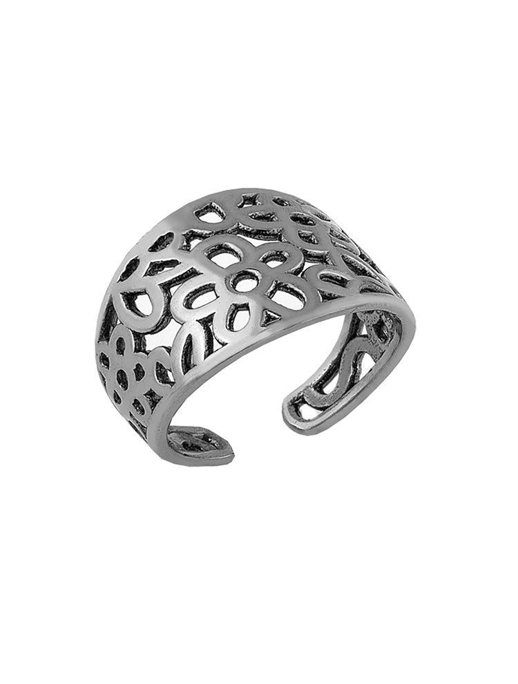 Ασημένιο δαχτυλίδι με μαύρο πλατίνωμα