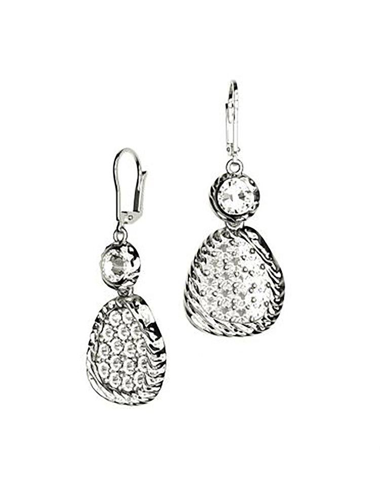 Εντυπωσιακά σκουλαρίκια με πέτρες Swarovski collection Aeolus από ασήμ