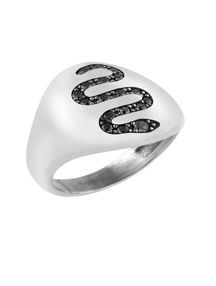 Δαχτυλίδι από ασήμι 925 με φίδι