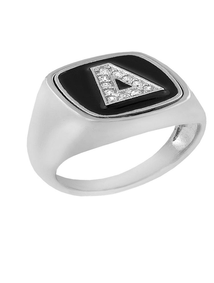 Δαχτυλίδι από ασήμι 925 με το μονόγραμμα Δ  13c98878e2d