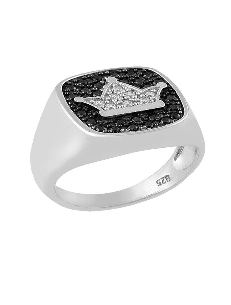 Δαχτυλίδι από ασήμι 925 με κορώνα και πέτρες ζιργκόν 8b9d16f57c8