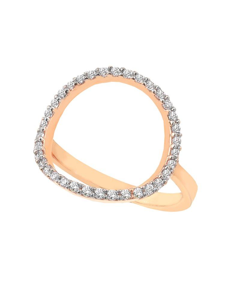 Δαχτυλίδι από επιχρυσωμένο ασήμι με κύκλο από πέτρες ζιργκόν