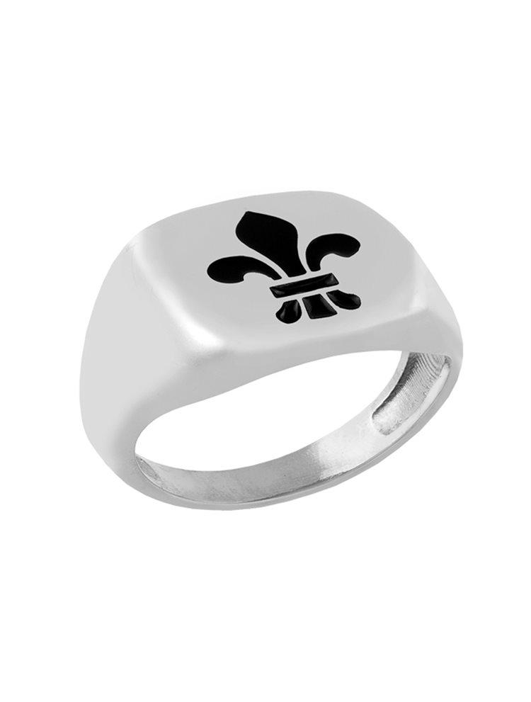 Δαχτυλίδι από ασήμι με σχέδιο με σμάλτο