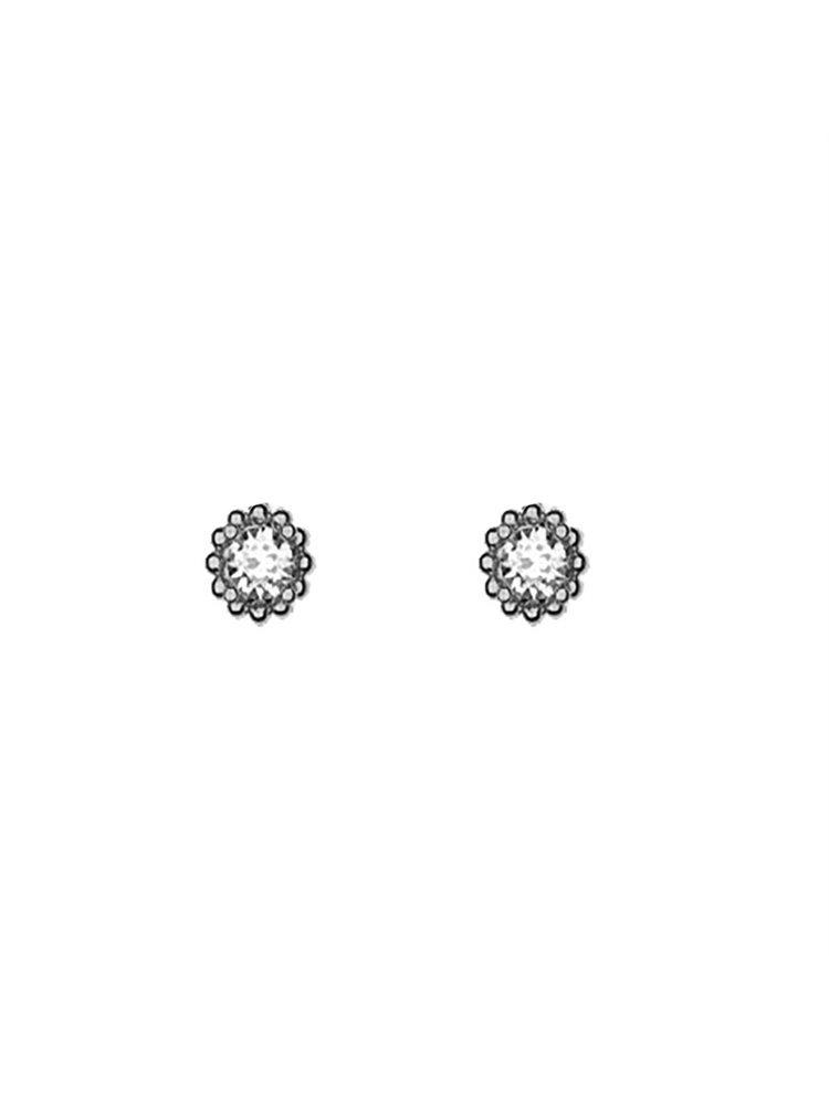Διακριτικό ζευγάρι σκουλαρίκια με πέτρες Swarovski από ασήμι