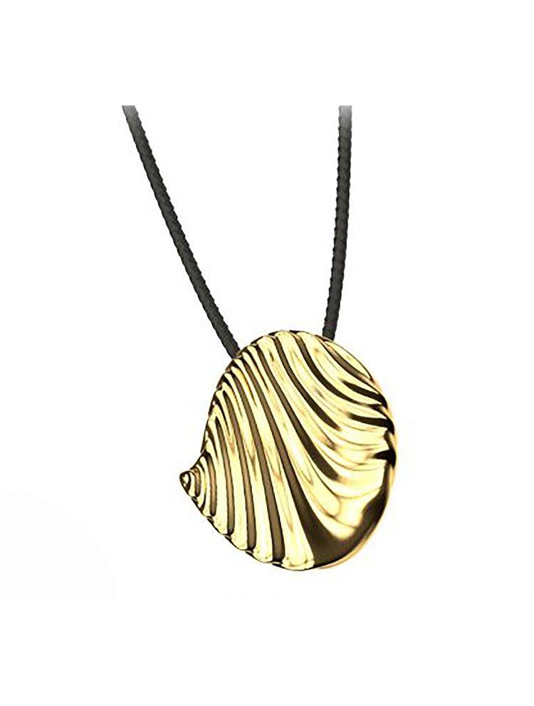 Εντυπωσιακό κολιέ από επιχρυσωμένο ασήμι με κορδόνι από τη συλλόγη Waves