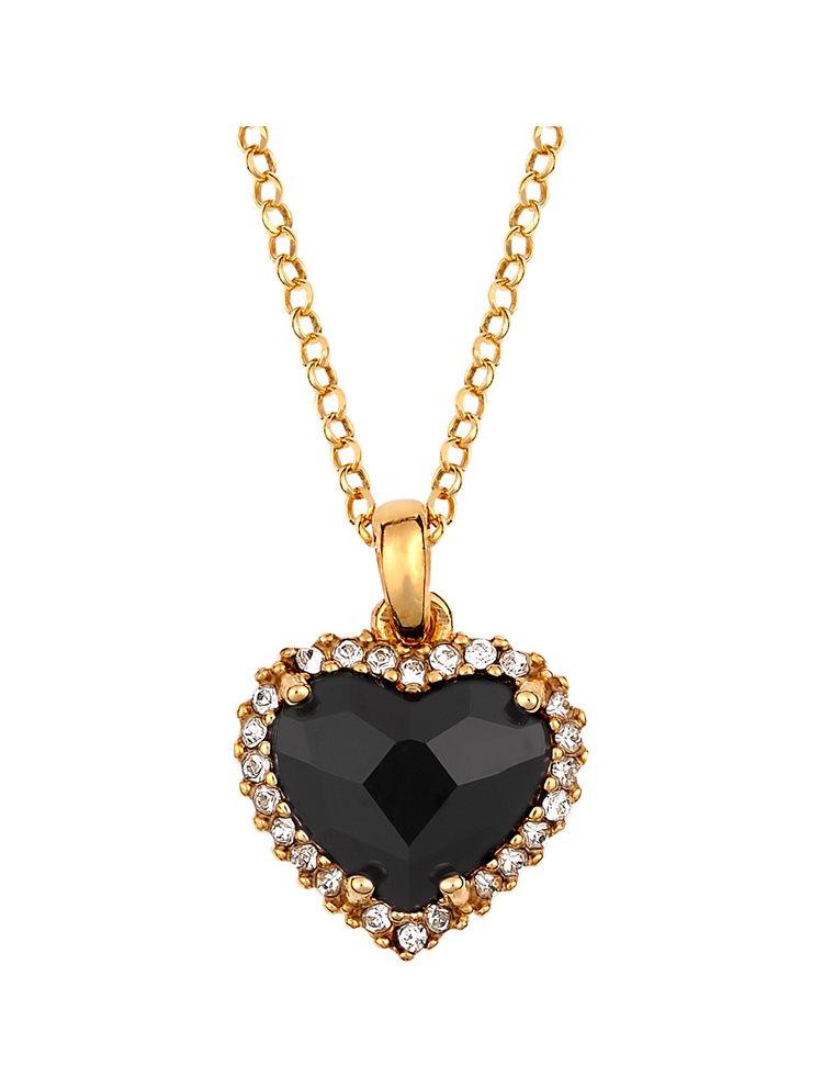 Εντυπωσιακό κολιέ με πέτρες Swarovski από επιχρυσωμένο ασήμι με καρδιά 25dba08fddd