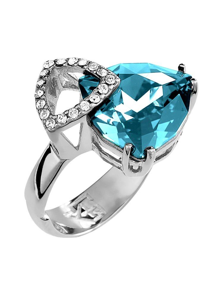 Δαχτυλίδι εντυπωσιακό με πέτρες Swarovski από ασήμι 876d10a27d6