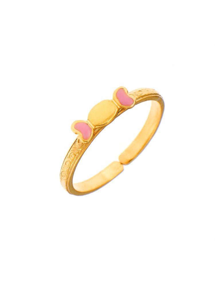 124c6e03453 Παιδικό μοντέρνο δαχτυλίδι από χρυσό Κ9 με καραμέλα, ΠΑΙΔΙ ...