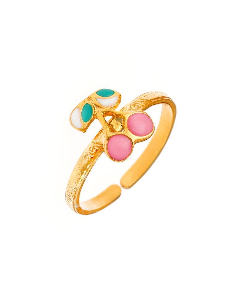 82d9668373b Παιδικό μοντέρνο δαχτυλίδι από χρυσό Κ14 με καραμέλα
