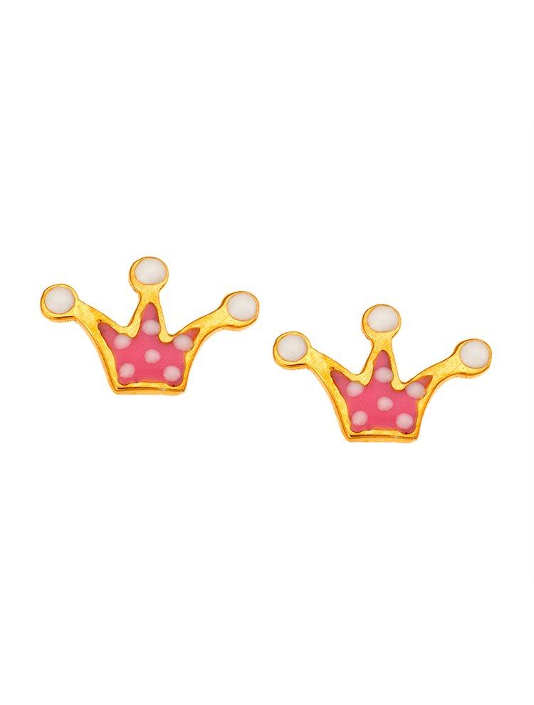 59fafce6230 Παιδικό μοντέρνο ζευγάρι σκουλαρίκια από χρυσό Κ14