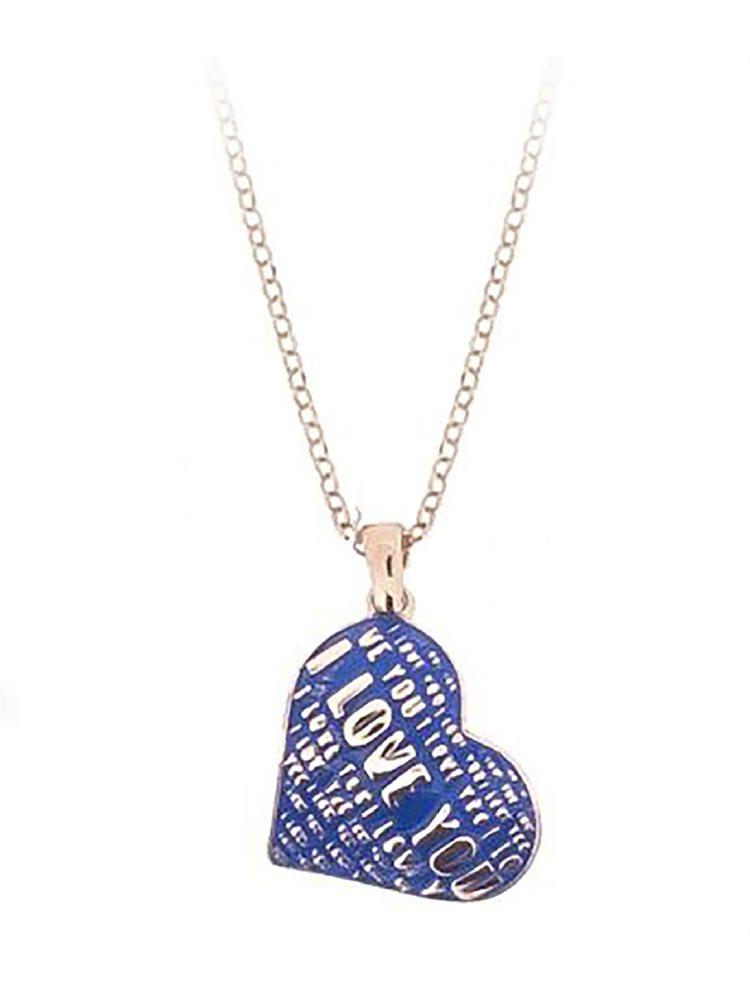 Μοντέρνο κολιέ κολιέ συλλογή Love promises από ρόζ επιχρυσωμένο ασήμι με σκαλιστά γράμματα και σμάλτο
