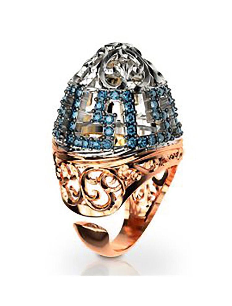 Εντυπωσιακό δαχτυλίδι συλλογή Fabulous από ρόζ επιχρυσωμένο ασήμι με πέτρες  swarovski 6356a74b10a
